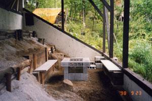 バーベキューの炉